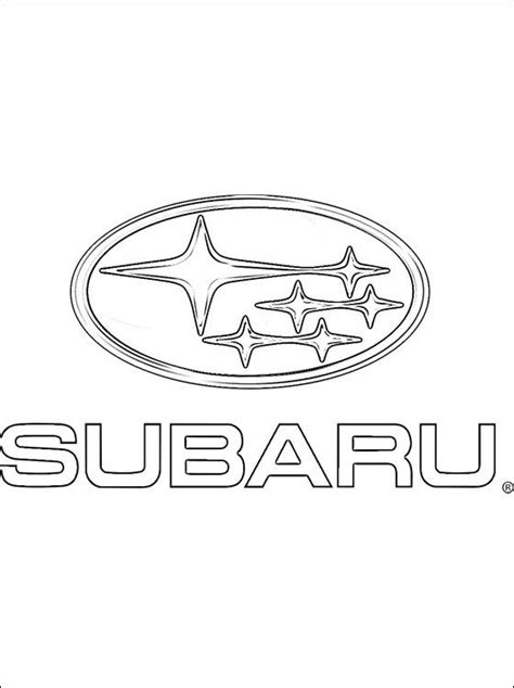 subaru emblem drawing coloring page subaru logo coloring pages coloring