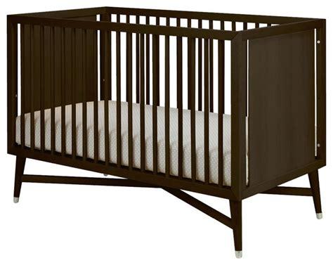 mid century crib in espresso modern cribs by