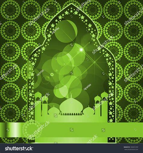 islamic pattern background green green islamic background stock illustration 106501259