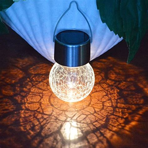 glass solar lights 3pack crackle glass globe solar light with hanger sogrand