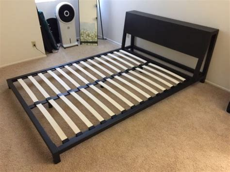 cb2 alpine bed cb2 alpine gunmetal queen bed frame furniture in los