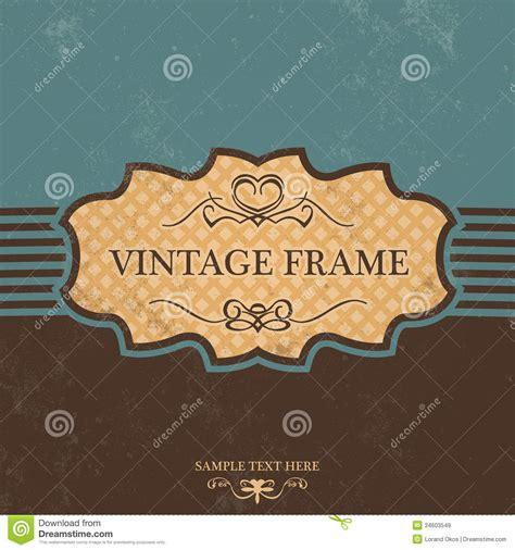 label design background vintage label design with retro background royalty free