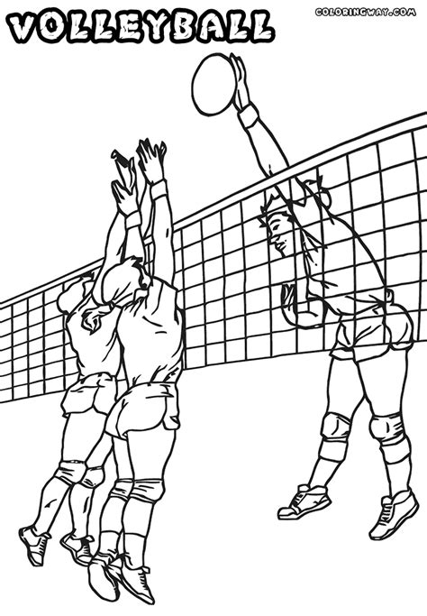 volleyball coloring pages coloring pages to download and