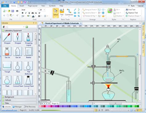 scientific drawing software laboratory equipment diagram science illustration solutions
