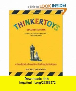 Pdf Thinkertoys Handbook Creative Thinking Techniques 2nd by Michael O Keefe And Tutorials On