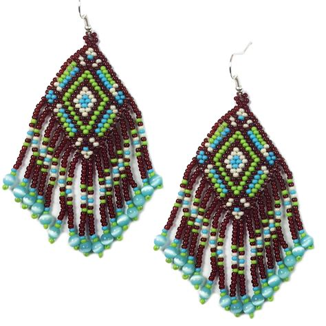 seeds of light jewelry wholesale handmade beaded brown seed bead earrings e14 16