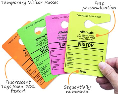 guest pass card template guest parking passes customize