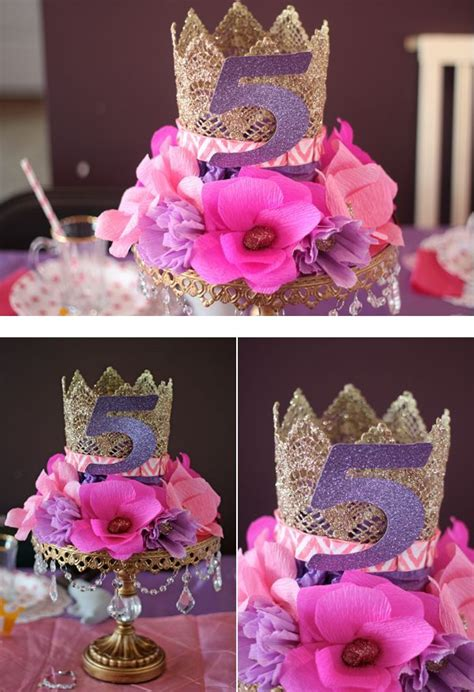 princess themed centerpiece ideas beautiful crown and floral centerpiece on a cake stand wedding decor ideas