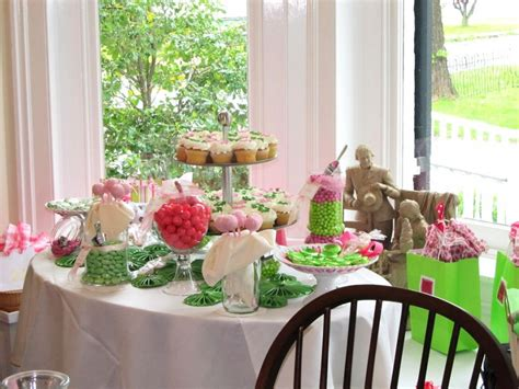 15 Awesome Candy Buffet Ideas To Steal Candystore Com Pink And Green Buffet