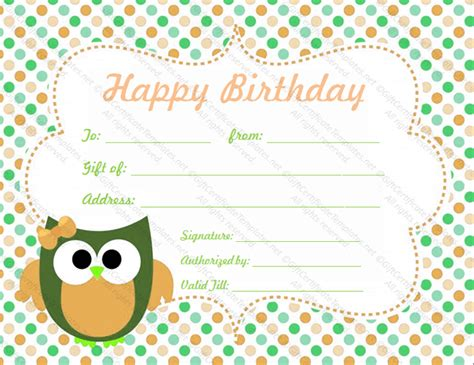 happy birthday certificate templates free birthday gift certificate templates for word