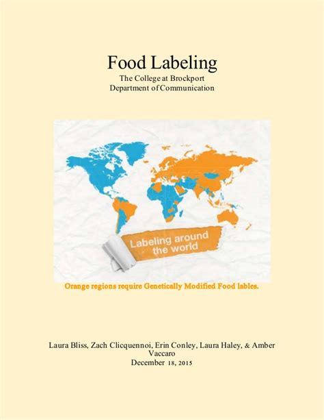 bureau r馮lable food labeling report