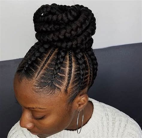braided ponytail hairstyles for black women on pin up flawless braided bun by narahairbraiding black hair