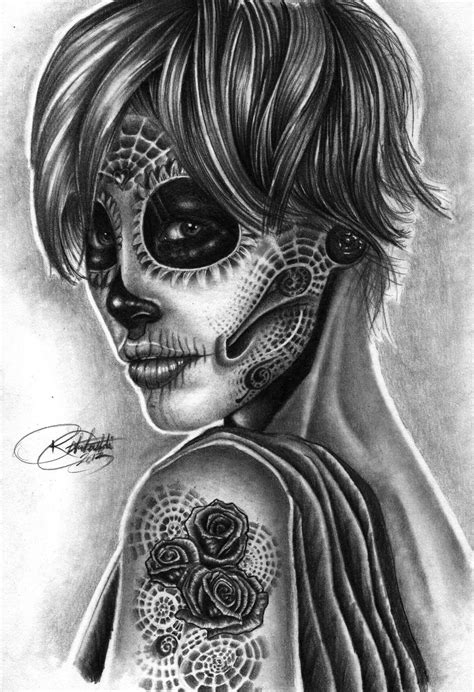 day of the dead woman tattoo designs day of the dead design tattooshunt
