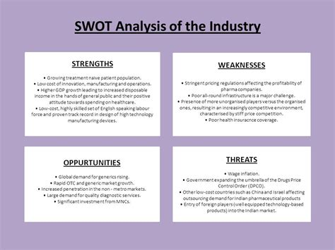 Mba Swot Analysis Of Pharmaceutical Industry by Swot Analysis Of Indian Industry Ppt