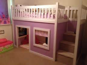 Playhouse Bed white s purple playhouse bed diy projects