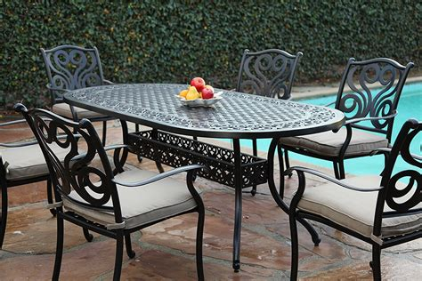 cbm outdoor cast aluminum patio furniture pc dining table