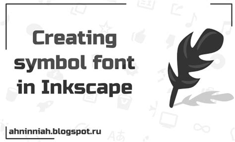 inkscape lettering tutorial learn to draw 2d art creating symbol font in inkscape