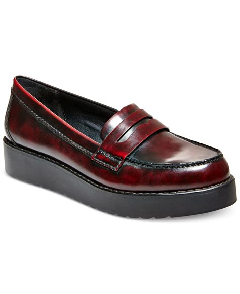 madden loafers madden empire flatform loafers in purple lyst
