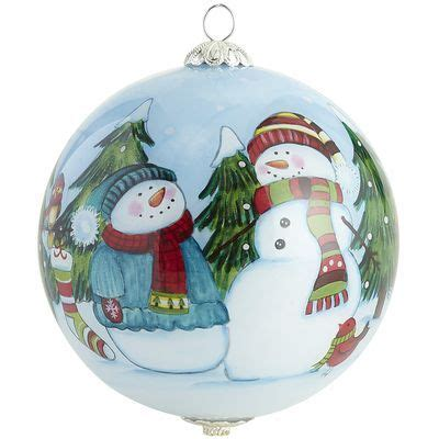 my 2013 li bien snowmen ornament hand painted and dated i gave this to several relatives
