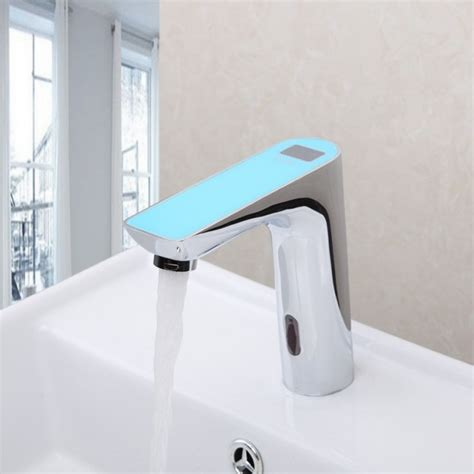 new digital disply electronic motion sensor bathroom faucet