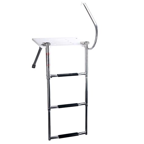 boat ladder supports boat swim polyethylen outboard platform stainless rail
