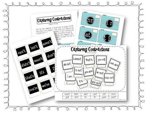 printable contraction games contractions teacher resources word work pinterest