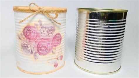 tutorial decoupage latas lata decorada con t 233 cnica decoupage my crafts and diy