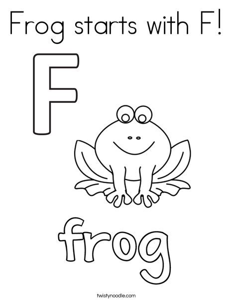 color that starts with f frog starts with f coloring page twisty noodle
