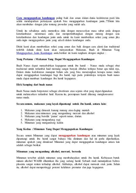 Tips Menggurkan Kandungan 1 Minggu Cara Menggugurkan Kandungan Dokter Obataborsi Com