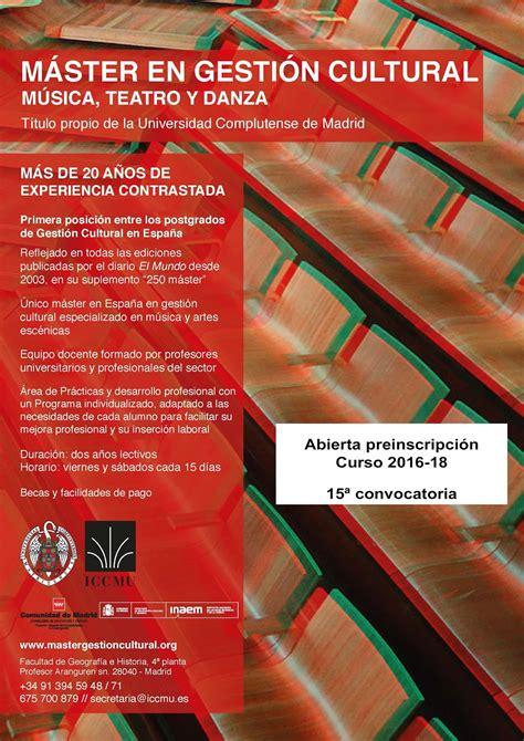Nueva Master Class Y Convocatoria Del Master En Marketing Experiencial | teatro aficionado nueva convocatoria del m 225 ster en