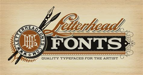 letterhead fonts handcrafted letters for the