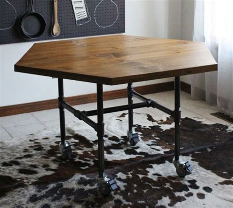 Diy Industrial Dining Room Table Industrial Diy Pipe Legs Table Shelterness