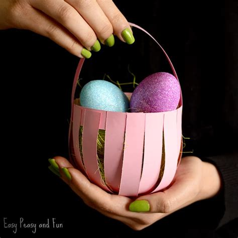 Paper Basket Craft - 25 easter crafts for lots of crafty ideas easy