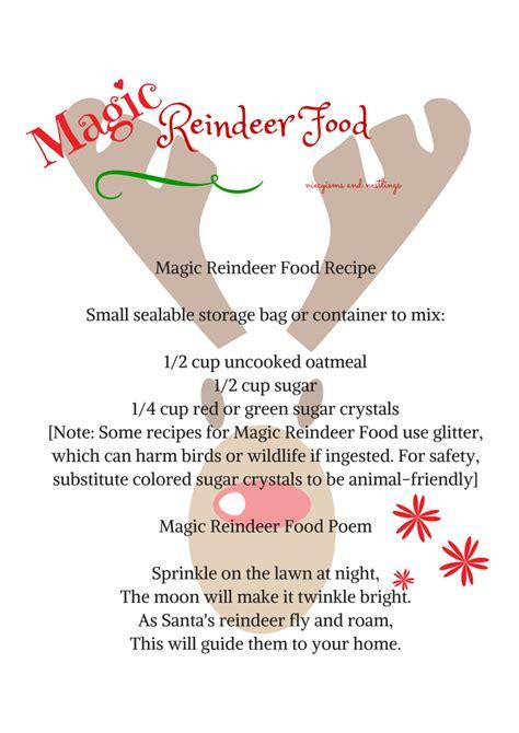 magic reindeer food poem template the magic reindeer food recipe and poem free printable