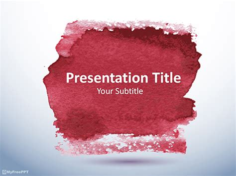 watercolor templates free watercolor abstract powerpoint template