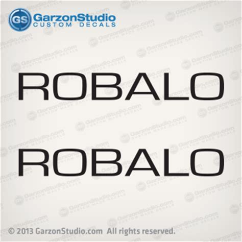 robalo letters decal set black 48x6 5 in garzonstudio - Robalo Boat Letters