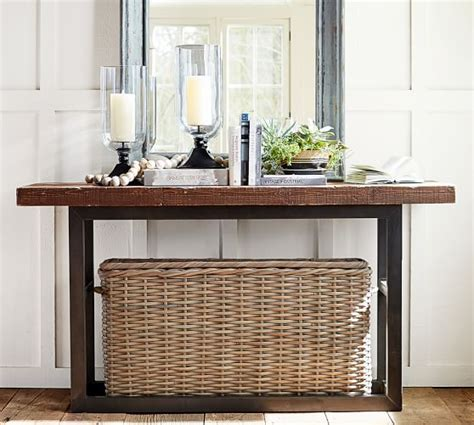 Pottery Barn Griffin Table by Griffin Reclaimed Wood Console Table Pottery Barn
