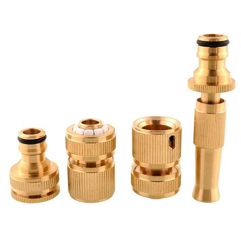 Plumbing Hose Connectors by 4pcs Lot Brass Threaded Faucet Hose Water Pipe Tap