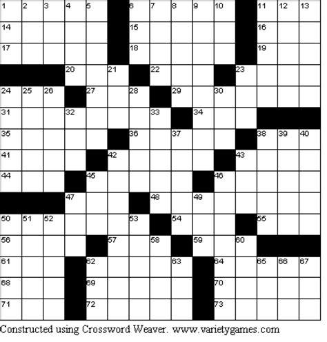 printable variety puzzles crossword puzzles answers free printable crossword puzzles