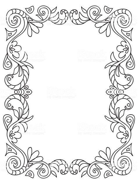 cornice da disegnare cornice floreale decorativo da colorare immagini