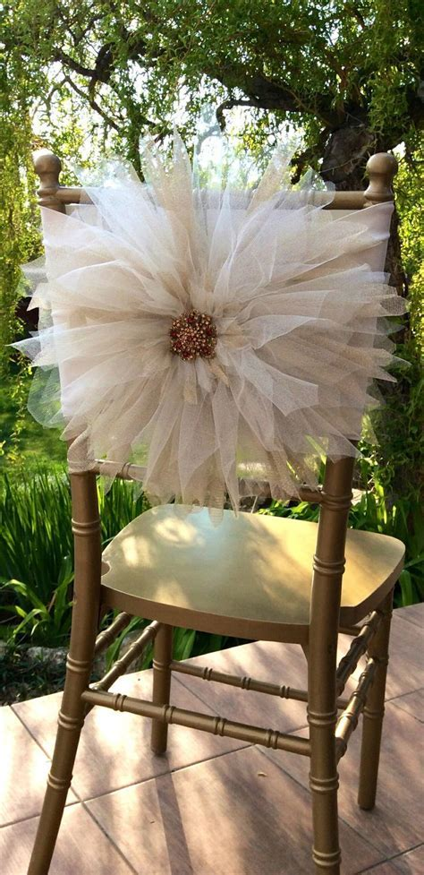 Wedding Chair Décor With Tulle   Crafts   Wedding chair