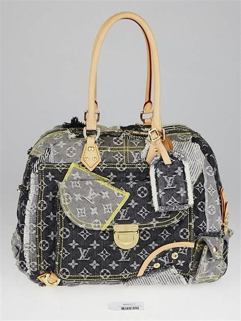 Louis Vuitton Patchwork Bag - louis vuitton limited edition grey denim monogram denim