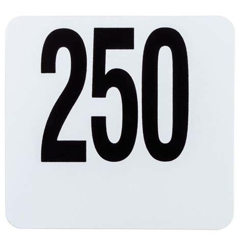 american metalcraft 4250 plastic table number set