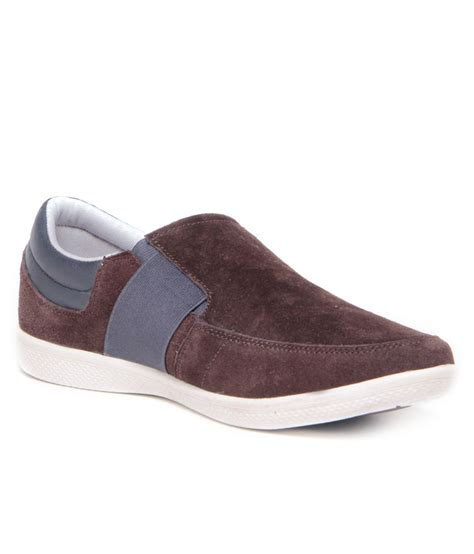 gas must brown suede slip on lifestyle shoes price in