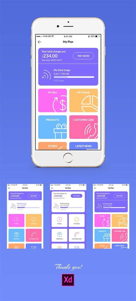 mobile data free mobile data usage app screen ui creativetacos