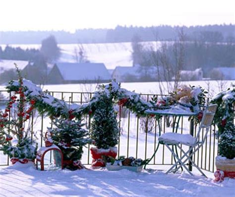 winter home design tips winter christmas balcony view