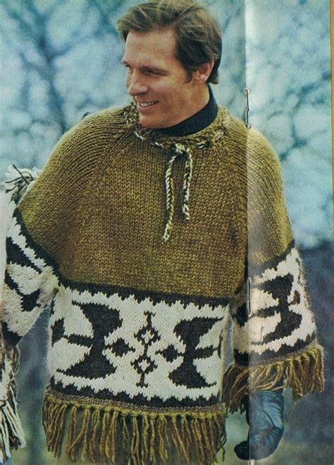 knitting pattern guy knit icelandic poncho pullover man s knitting pattern