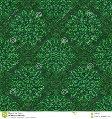 pattern over video seamless mandala pattern over green stock illustration