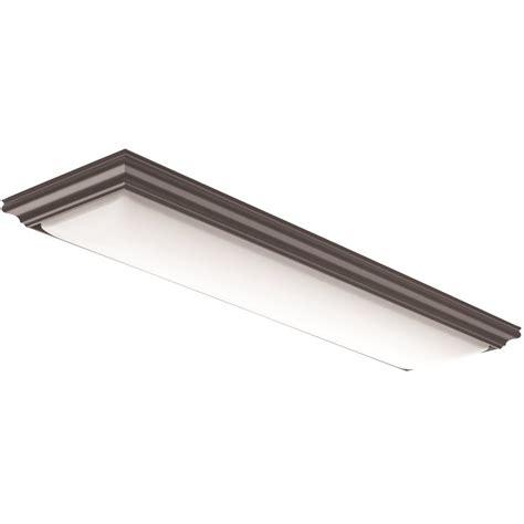 4 ft led light lithonia lighting vanderlyn 4 ft brown led flush mount