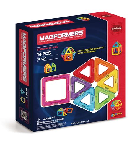 magformers magnetic rainbow 14 set